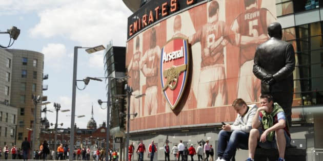 """Britain Soccer Football - Arsenal v Aston Villa - Barclays Premier League - Emirates Stadium - 15/5/16 General view outside the stadium before the game Action Images via Reuters / John Sibley Livepic EDITORIAL USE ONLY. No use with unauthorized audio, video, data, fixture lists, club/league logos or """"live"""" services. Online in-match use limited to 45 images, no video emulation. No use in betting, games or single club/league/player publications.  Please contact your account representative for further details."""