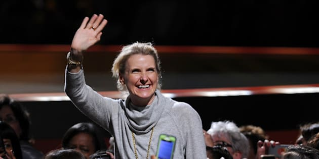 "Elizabeth Gilbert, the best selling author of ""Eat, Pray, Love"" appears for the ""Oprah's The Life You Want Weekend"" at the American Airlines Arena on Oct 24, 2014 in Miami, Fla.(Photo by Jeff Daly/Invision/AP)"