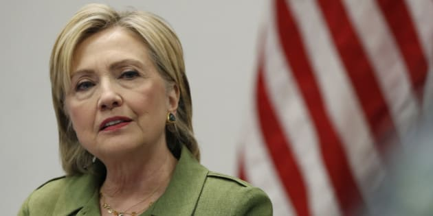In this photo taken Aug. 18, 2016,Democratic presidential candidate Hillary Clinton speaks to media at John Jay College of Criminal Justice in New York. In his speech at the Republican National Convention, Donald Trump made seven references to the conflict in Syria, pointing to the war-ravaged nation as a source of much of the world's turmoil, particularly immigration and extremism. A week later at the Democratic convention, Hillary Clinton made not one reference to Syria. That could be because the conflict in Syria remains a major conundrum for both President Barack Obama and Clinton, his former secretary of state. (AP Photo/Carolyn Kaster)