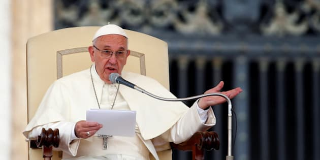 Pope Francis talks during the Wednesday general audience in Saint Peter's square at the Vatican September 7, 2016. REUTERS/Remo Casilli