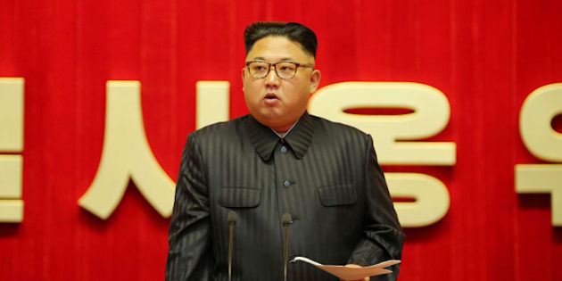 North Korean leader Kim Jong Un guides the 3rd Meeting of Activists of the Korean People's Army (KPA) in the Movement for Winning the Title of O Jung Hup-led 7th Regiment in this undated photo released by North Korea's Korean Central News Agency (KCNA) in Pyongyang on August 4, 2016. KCNA/ via REUTERS ATTENTION EDITORS - THIS PICTURE WAS PROVIDED BY A THIRD PARTY. REUTERS IS UNABLE TO INDEPENDENTLY VERIFY THE AUTHENTICITY, CONTENT, LOCATION OR DATE OF THIS IMAGE. FOR EDITORIAL USE ONLY. NOT FOR SALE FOR MARKETING OR ADVERTISING CAMPAIGNS. THIS PICTURE IS DISTRIBUTED EXACTLY AS RECEIVED BY REUTERS, AS A SERVICE TO CLIENTS. NO THIRD PARTY SALES. SOUTH KOREA OUT. NO COMMERCIAL OR EDITORIAL SALES IN SOUTH KOREA.