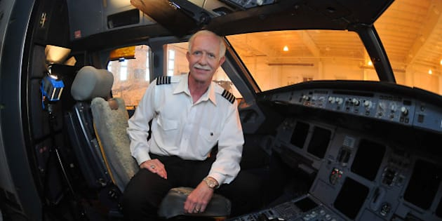 For the first time since crash-landing in the Hudson River, Capt. Chesley 'Sully' Sullenberger returns to the cockpit of US Airways jet flight 1549 at the Carolinas Aviation Museum on Friday, November 18, 2011, in Charlotte, North Carolina. Sullenberger was visiting as a guest of local schoolkids. (Todd Sumlin/Charlotte Observer/MCT via Getty Images)