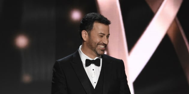 Host Jimmy Kimmel appears at the 68th Primetime Emmy Awards on Sunday, Sept. 18, 2016, at the Microsoft Theater in Los Angeles. (Photo by Chris Pizzello/Invision/AP)