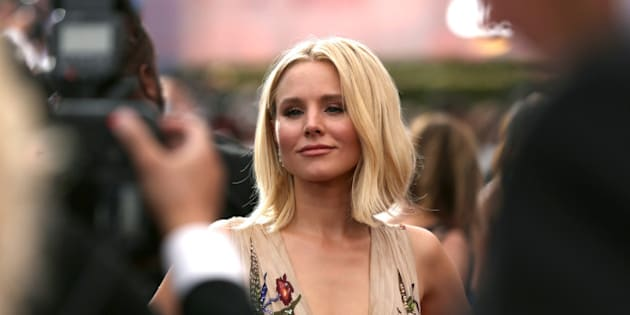 Kristen Bell arrives at the 68th Primetime Emmy Awards on Sunday, Sept. 18, 2016, at the Microsoft Theater in Los Angeles. (Photo by Rich Fury/Invision for the Television Academy/AP Images)
