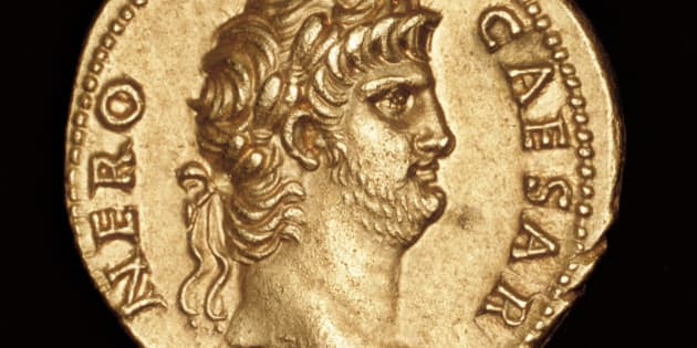 Rare Ancient Roman Coin, Gold, Sestertius, Nero c 64 AD (Photo by Hoberman Collection/UIG via Getty Images)