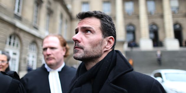 Former trader Jerome Kerviel leaves the courthouse in Paris, France, March 21, 2016. Kerviel was convicted in 2008 after losing Societe Generale 4.9 billion euros ($6.4 billion) with a pileup of trades that went wrong.   REUTERS/Charles Platiau