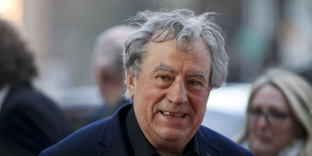 "Terry Jones attends a special Tribeca Film Festival screening of ""Monty Python and the Holy Grail"" at the Beacon Theatre on Friday, April 24, 2015, in New York. (Photo by Andy Kropa/Invision/AP)"