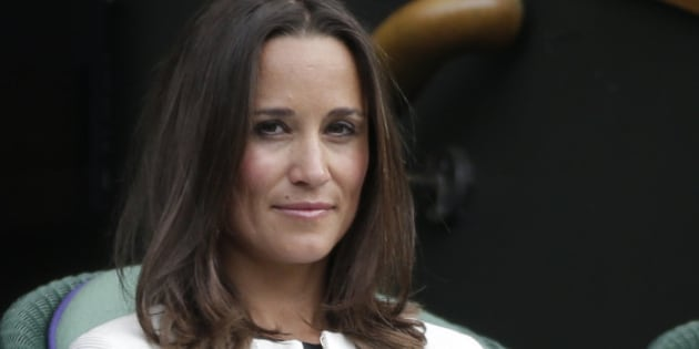 Pippa Middleton, the sister of Britain's Catherine, Duchess of Cambridge, watches the women's singles tennis match between Angelique Kerber of Germany and Heather Watson of Britain at the Wimbledon Tennis Championships, in centre court, London June 26, 2014.   REUTERS/Max Rossi (BRITAIN  - Tags: SPORT TENNIS ENTERTAINMENT ROYALS)