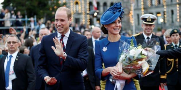 Britain's Prince William, and Catherine, Duchess of Cambridge, attend a welcome ceremony at the British Columbia Legislature in Victoria, British Columbia, Canada, September 24, 2016. REUTERS/Chris Wattie