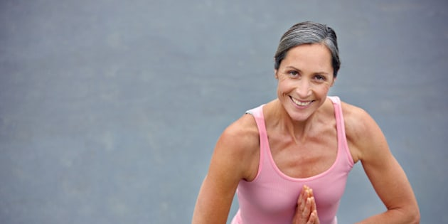 High angle portrait of an attractive mature woman doing yoga outdoorshttp://195.154.178.81/DATA/istock_collage/a4/shoots/785184.jpg