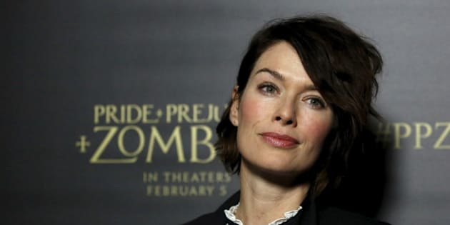 """Cast member Lena Headey poses at the premiere of """"Pride and Prejudice and Zombies"""" in Los Angeles, California January 21, 2016. The movie opens in the U.S. on February 5. REUTERS/Mario Anzuoni"""