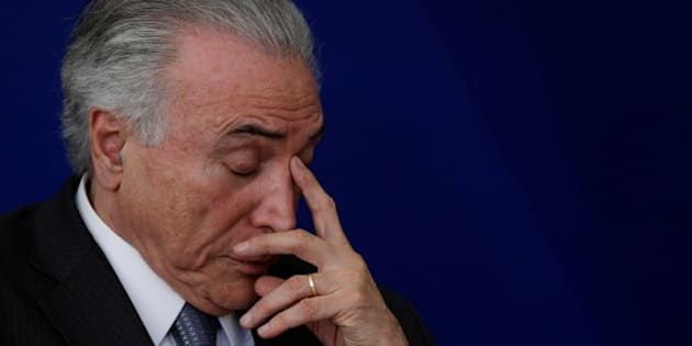 "Brazil's President Michel Temer reacts during launch ceremony of the ""New School"" (Novo Ensino Medio) at the Presidential Palace in Brasilia, Brazil, September 22, 2016. REUTERS/Ueslei Marcelino"