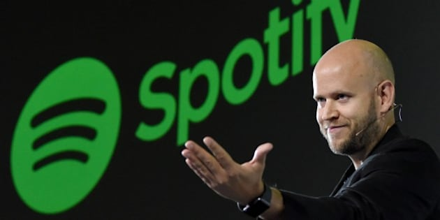 Daniel Ek, CEO of Swedish music streaming service Spotify, gestures as he makes a speech at a press conference in Tokyo on September 29, 2016.  Spotify kicked off its services in Japan on September 29. / AFP / TORU YAMANAKA        (Photo credit should read TORU YAMANAKA/AFP/Getty Images)