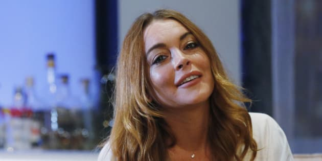 "Actress Lindsay Lohan rehearses a scene from ""Speed-the-Plow"" by David Mamet at the Playhouse Theatre in London September 30, 2014. The play, directed by Lindsay Posner, runs until November 29. REUTERS/Suzanne Plunkett (BRITAIN - Tags: ENTERTAINMENT)"