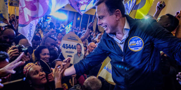 The PSDB party right candidate, João Doria, grew to 28% of the vote, taking the lead in the race for the City of Sao Paulo, according to the poll by Ibope on 26, September 2016 in Sao Paulo, Brazil. Probably John Doria will be done the second round of elections with the PRB candidate, Celso Russomanno, who lost six points in 12 days and records 24%. (Photo by Cris Faga/NurPhoto via Getty Images)
