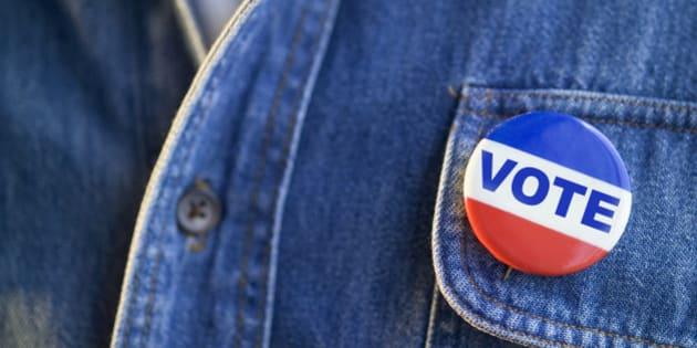 Closeup of Vote Pin