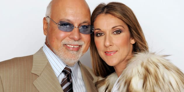 LAS VEGAS, NV - SEPTEMBER 15:  Celine Dion and her husband Rene Angelil pose for a picture backstage during the 2004 World Music Awards at the Thomas and Mack Center on September 15, 2004 in Las Vegas, Nevada.  (Photo by Frank Micelotta/Getty Images)
