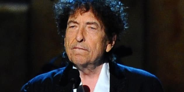 FILE - In this Feb. 6, 2015 file photo, Bob Dylan accepts the 2015 MusiCares Person of the Year award at the 2015 MusiCares Person of the Year show in Los Angeles. Dylan will perform at the Desert Trip music festival, kicking off Friday, Oct. 7, in Indio, Calif.  (Photo by Vince Bucci/Invision/AP, File)