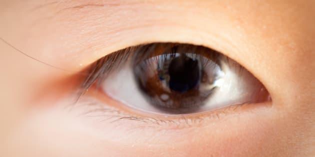 A girl's eye close ups