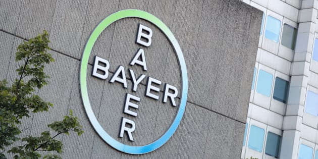 BERLIN, GERMANY - SEPTEMBER 14:  The logo of German pharmaceuticals and chemicals giant Bayer stands over Bayer corporate offices on September 14, 2016 in Berlin, Germany. The company confirmed earlier today that it has sealed the deal to buy Monsanto for USD 66 billion.  (Photo by Sean Gallup/Getty Images)