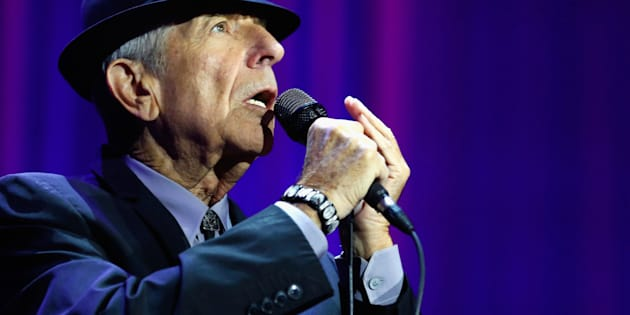 LONDON, ENGLAND - SEPTEMBER 15:  Leonard Cohen performs live on stage at O2 Arena on September 15, 2013 in London, England.  (Photo by Simone Joyner/Redferns via Getty Images)