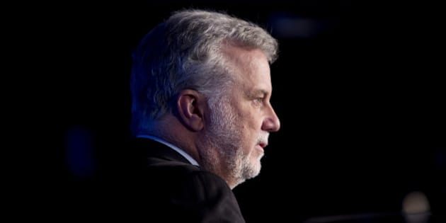 Philippe Couillard, premier of Quebec, pauses while speaking during the International Economic Forum of the Americas in Montreal, Quebec, Canada, on Monday, June 13, 2016. The conference promotes free discussion on major current economic issues and facilitates meetings between world leaders to encourage international discourse by bringing together Heads of State, the private sector, international organizations and civil society. Photographer: Brent Lewin/Bloomberg via Getty Images