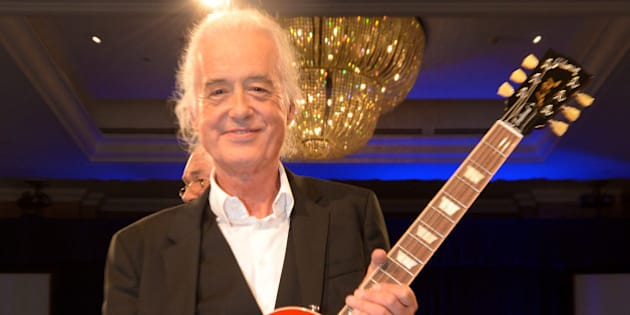 Jimmy Page attends the Nordoff Robbins O2 Silver Clef Awards 2014 at  the Hilton Hotel in London on Friday,  July  4, 2014. (Photo by Jon Furniss/Invision/AP)