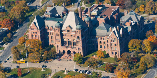 """Queen's Park is an urban park in Downtown Toronto, Ontario, Canada. Opened in 1860 by Edward, Prince of Wales, it was named in honour of Queen Victoria. The park is the site of the Ontario Legislative Building, which houses the Legislative Assembly of Ontario, and the phrase 'Queen's Park"""" is regularly used as a metonym for the Government of Ontario."""