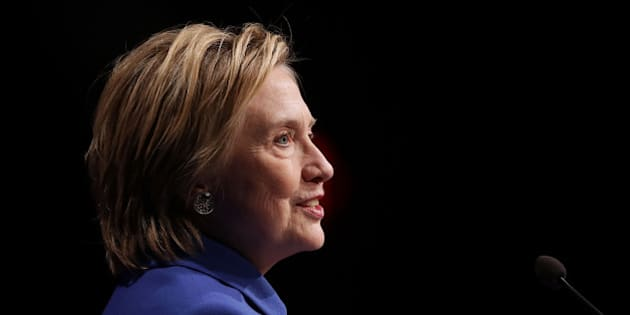 WASHINGTON, DC - NOVEMBER 16:  Former Secretary of State and former Democratic Presidential nominee Hillary Clinton delivers remarks while being honored during the Children's Defense Fund's Beat the Odds Celebration at the Newseum November 16, 2016 in Washington, DC. This was the first time Clinton had spoken in public since conceeding the presidential race to Republican Donald Trump.  (Photo by Chip Somodevilla/Getty Images)