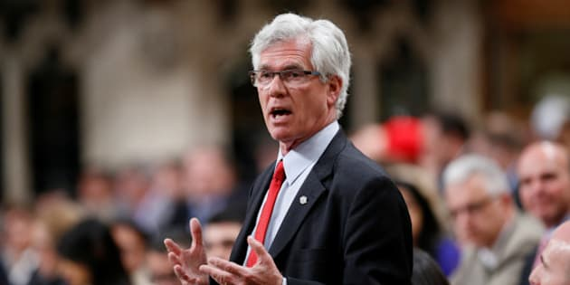 Canada's Natural Resources Minister Jim Carr speaks during Question Period in the House of Commons on Parliament Hill in Ottawa, Canada, May 17, 2016. REUTERS/Chris Wattie
