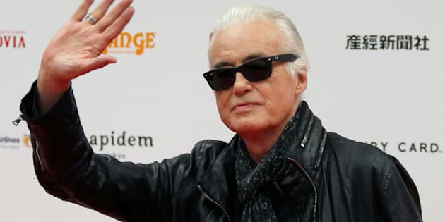 British rock musician and former guitarist for Led Zeppelin, Jimmy Page poses on the red carpet at the 2016 Classic Rock Roll of Honour awards in Tokyo, Japan, November 11, 2016.   REUTERS/Toru Hanai