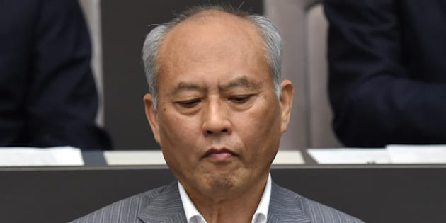 Tokyo's governor Yoichi Masuzoe attends the Tokyo Metropolitan Assembly plenary session in Tokyo on June 15, 2016. Masuzoe resigned as governor of Tokyo on June 15 over spending public money on lavish hotels and spa trips, the latest setback on the mega-city's troubled road to hosting the 2020 Olympics. / AFP / KAZUHIRO NOGI        (Photo credit should read KAZUHIRO NOGI/AFP/Getty Images)