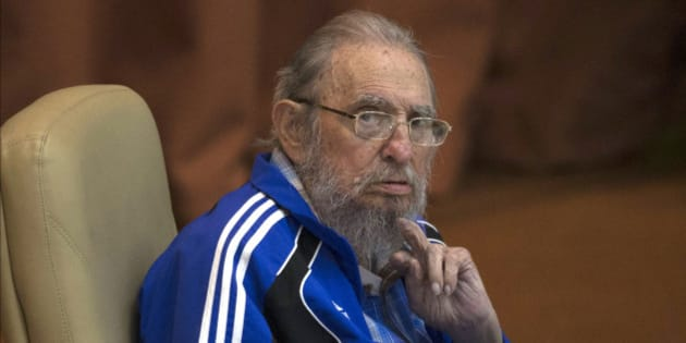 FILE - In this April 19, 2016 file photo, Fidel Castro attends the last day of the 7th Cuban Communist Party Congress in Havana, Cuba. Fidel Castro formally stepped down in 2008 after suffering gastrointestinal ailments and public appearances have been increasingly unusual in recent years. Cuban President Raul Castro has announced the death of his brother Fidel Castro at age 90 on Cuban state media on Friday, Nov. 25, 2016. (Ismael Francisco/Cubadebate via AP, File)