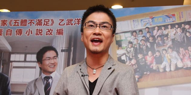 TAIWAN, CHINA - APRIL 21: (CHINA MAINLAND OUT)  Japanese writer Hirotada Ototake propagandized movie that adapted from his book on Sunday April 21, 2013 in Taipei, Taiwan, China.  (Photo by TPG/Getty Images)