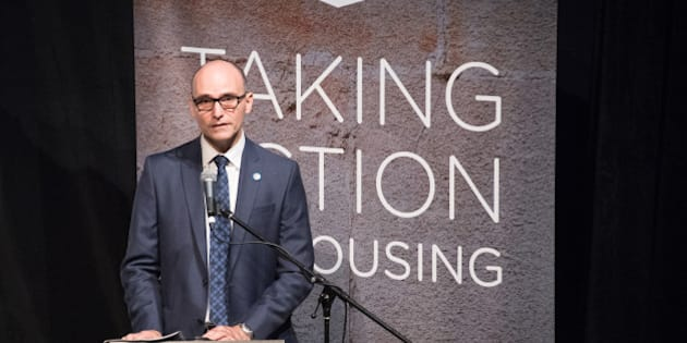 TORONTO, ONTARIO, CANADA - 2016/09/30: Jean-Yves Duclos, Minister of Families, Children and Social Development, addresses participants in the Toronto Affordable Housing Summit. (Photo by Roberto Machado Noa/LightRocket via Getty Images)
