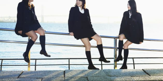 The 3 beautiful high school students are friends, and going to the same high school in Tokyo