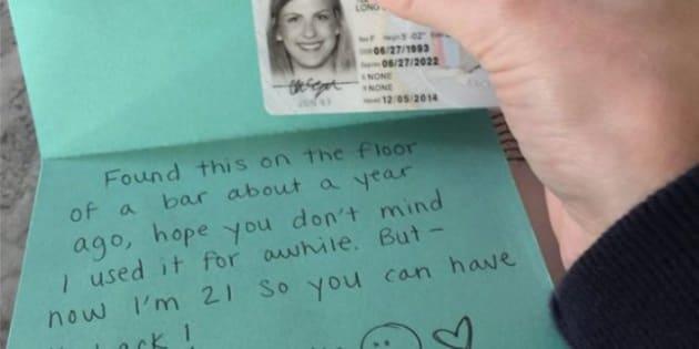 """Pierde el carnet y se lo devuelven un año después: """"Espero que no te importe que lo haya usado"""""""