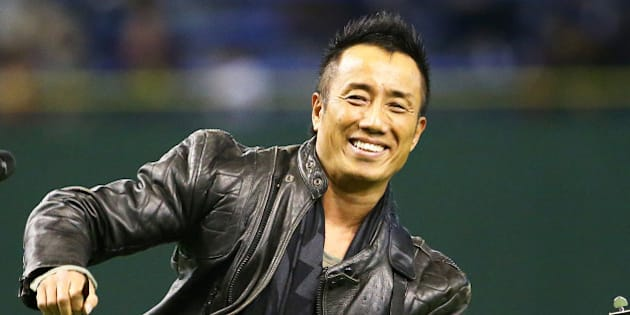 TOKYO, JAPAN - MARCH 21: Japanese singer Tsuyoshi Nagabuchi performs during the Tomodachi Charity Baseball Game on March 21, 2015 in Tokyo, Japan. (Photo by Koji Watanabe/Getty Images)