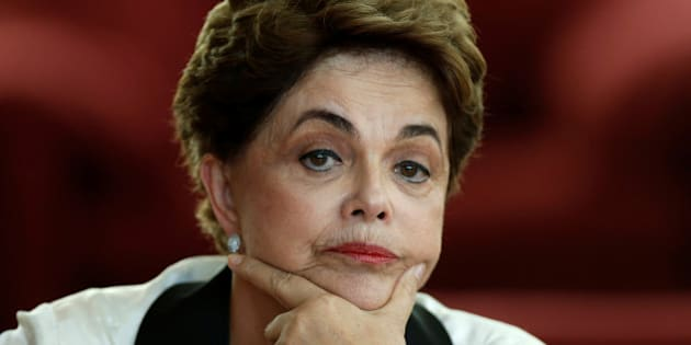 Brazil's former President Dilma Rousseff reacts during a news conference for foreign journalists at Alvorada Palace in Brasilia, Brazil September 2, 2016. REUTERS/Ueslei Marcelino