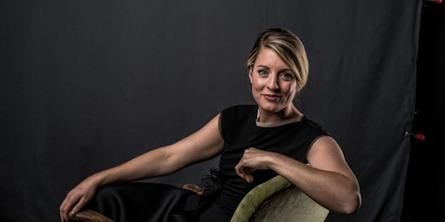CALGARY, ALBERTA - APRIL 03:  Heritage Minister Melanie Joly poses at the 2016 Juno Awards Portrait Studio at Scotiabank Saddledome on April 3, 2016 in Calgary, Canada.  (Photo by George Pimentel/Getty Images)