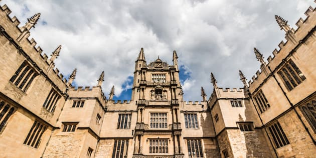 The Bodleian Library at the University of Oxford in Great Britain in June.