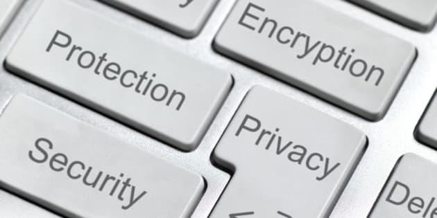 Encryption button on keyboard.