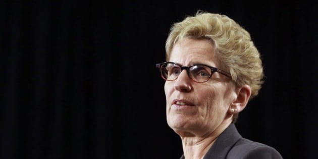 TORONTO, ON - APRIL 16:  Premier Kathleen Wynne during a news conference on government assets, April 16, 2015. Beer will soon be sold in up to 450 supermarkets and Wynne's Liberals will sell up to 60 per cent of the publicly owned Hydro One.        (Andrew Francis Wallace/Toronto Star via Getty Images)