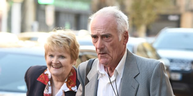 Pierre Le Guennec (R), who is accused of receiving stolen goods after being found in possession of paintings by late Spanish artist Pablo Picasso, arrives with his wife Danielle at the court in Aix-en-Provence, southeastern France on October 31, 2016 for their appeal trial.  Le Guennec, a former electrician, and his wife were convicted to two years suspended sentence for receiving stolen goods regarding some 271 artworks by Picasso which Le Guennec claims were given to him by Picasso and his wife Jacqueline when he carried out work on their villa in Mougins in the 1970's.    / AFP / BORIS HORVAT        (Photo credit should read BORIS HORVAT/AFP/Getty Images)