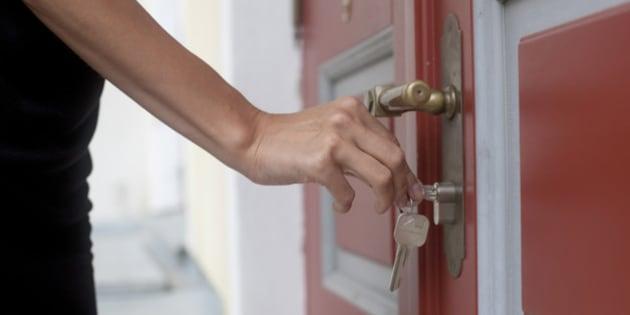 Locking up door
