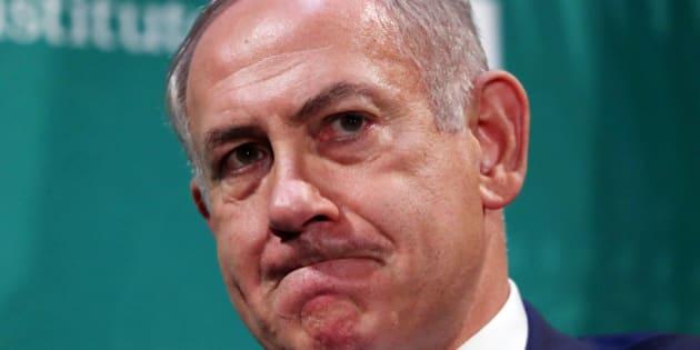 Israeli Prime Minister Benjamin Netanyahu delivers remarks at the Hudson Institute's Herman Kahn Award Ceremony at the Plaza Hotel in Manhattan, New York, U.S., September 22, 2016. REUTERS/Andrew Kelly