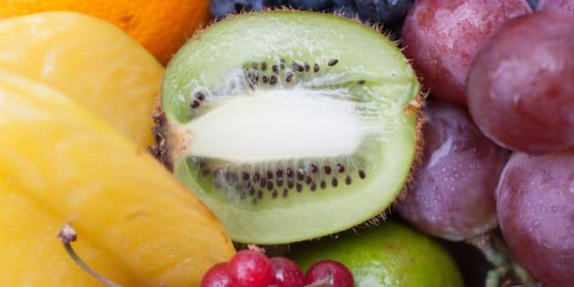Variety of vibrant fruit