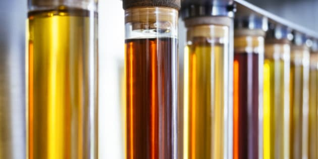 Ethanol oil test in Tube Fuel Biodiesel Energy research Industry
