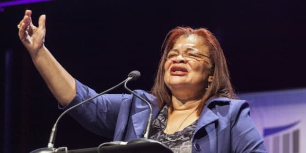 Civil rights activist Alveda King, who is Martin Luther King's niece, speaks at the Family Leadership Summit in Ames, Iowa August 9, 2014. The pro-family Iowa organization is hosting the event in conjunction with national partners Family Research Council Action and Citizens United.  REUTERS/Brian Frank? (UNITED STATES - Tags: POLITICS BUSINESS)