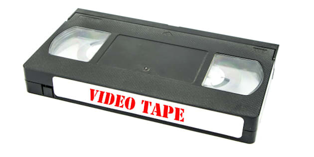 video tape isolated on white